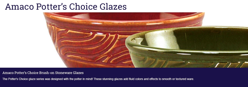 Check out the Amaco Potter's Choice range here